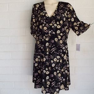 NWT Lauren Conrad XL Sarafae Fleur fit flare dress